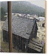 Elkhorn Snowfall Wood Print