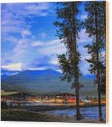 Elkins Marina Wood Print