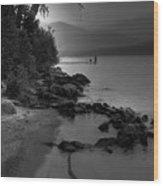 Elkins North Beach Wood Print