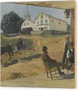 Ella's Hotel Richfield Ohio Wood Print
