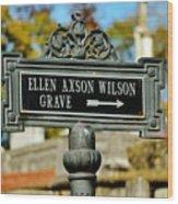 Ellen Axson Wilson Wood Print