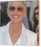 Ellen Degeneres In Attendance Wood Print by Everett