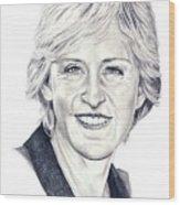 Ellen Degeneres Wood Print