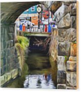 Ellicott City Bridge Arch Wood Print