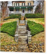 Ellicott City House Wood Print