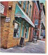 Ellicott City Shops Wood Print