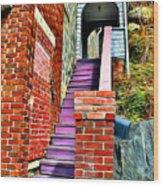 Ellicott City Steps Wood Print