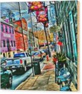 Ellicott City Street Wood Print