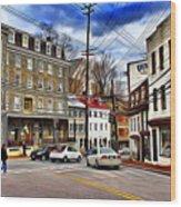 Ellicott City Streets Wood Print