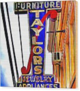 Ellicott City Taylor's Sign Wood Print