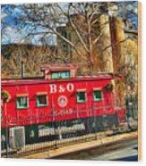 Ellicott City Train And Factory Wood Print