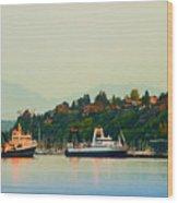 Elliot Bay Wood Print
