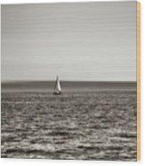 Elliott Bay Sailing Wood Print