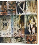 Ellora And Ajanta Caves Wood Print