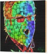 Elton John in Cubes 2 Wood Print