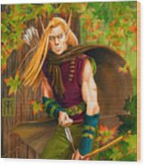 Elven Hunter Wood Print