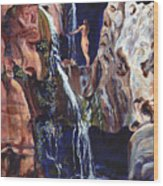 Elves Chasm Wood Print