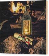 Elves Lantern Wood Print