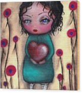 Elvira's Heart  Wood Print
