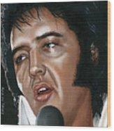 Elvis 24 1975 Wood Print