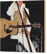 Elvis In Concert Wood Print