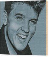 Elvis Is Back Wood Print