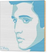 Elvis Wood Print by Mike Maher