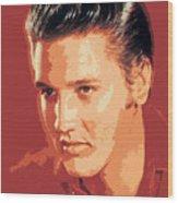 Elvis Presley - The King Wood Print