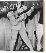 Elvis Presley, C. Mid-1950s Wood Print by Everett