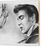 Elvis Presley Wood Print