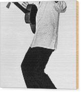 Elvis Presley In 1956 Wood Print