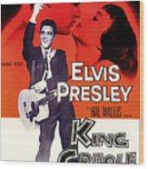 Elvis Presley In King Creole 1958 Wood Print