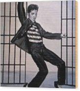 Elvis Presley Jailhouse Rock Wood Print