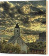 Elvis Presley Memorial Chapel II  Wood Print