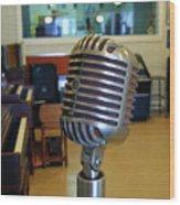Elvis Presley Microphone Wood Print