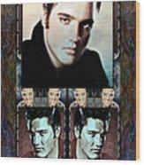 Elvis Presley Montage Wood Print