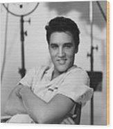 Elvis Presley On Set During Movie Making Wood Print
