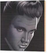Elvis Presley Portrait Wood Print