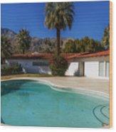 Elvis Presley's Palm Springs Home Wood Print