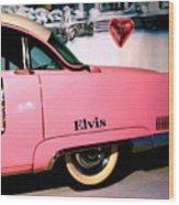 Elvis's Pink Cadillac Wood Print