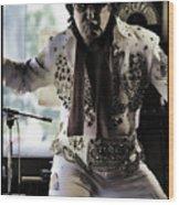Elvis....sort Of Wood Print