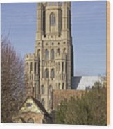 Ely Cathedral West Tower Wood Print