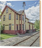 Ely Vermont Train Station Wood Print