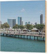 Embarcadero Marina Park South Pier Close Up Wood Print