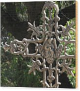 Embellished Cross Wood Print