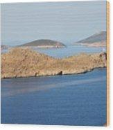 Emborio Harbour On Halki Island Wood Print