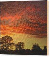 Embossed Sunrise Wood Print