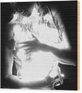 Embracing Light - Self Portrait Wood Print
