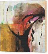 Embracing Secrets Panel One Of Two Wood Print