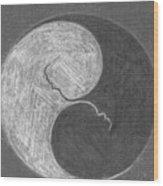 Embriotic Yin Yang Wood Print